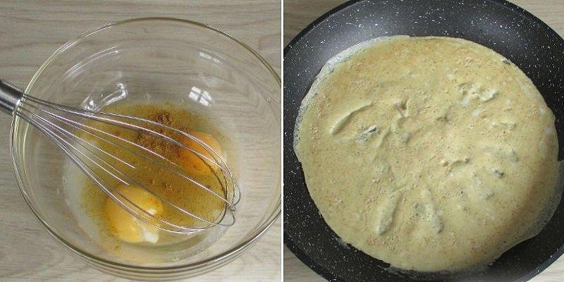 Салат з печінкових млинців
