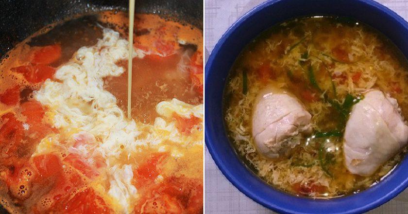 Курячий суп з помідорами подивитися рецепт