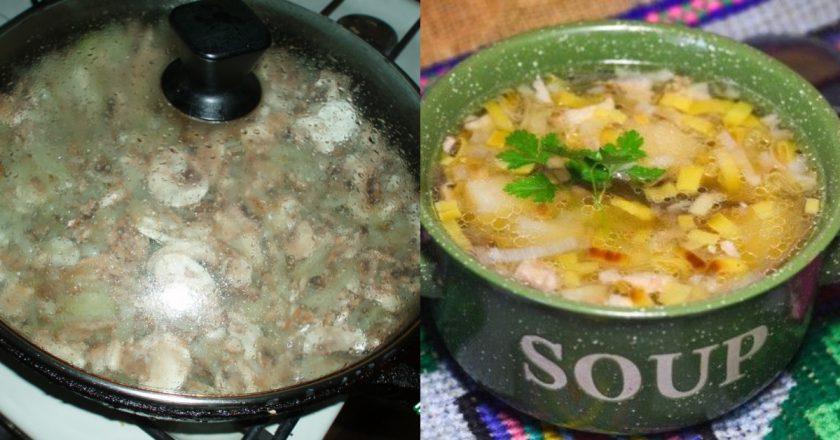 Грибний суп в горщиках подивитися рецепт