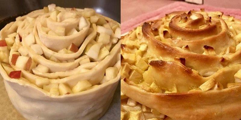Пиріг «Равлик» з яблуками