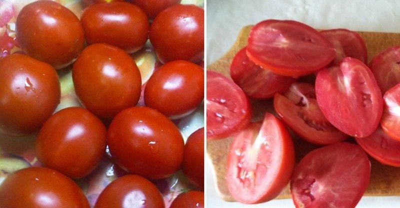 Швидкі помідори по-корейськи