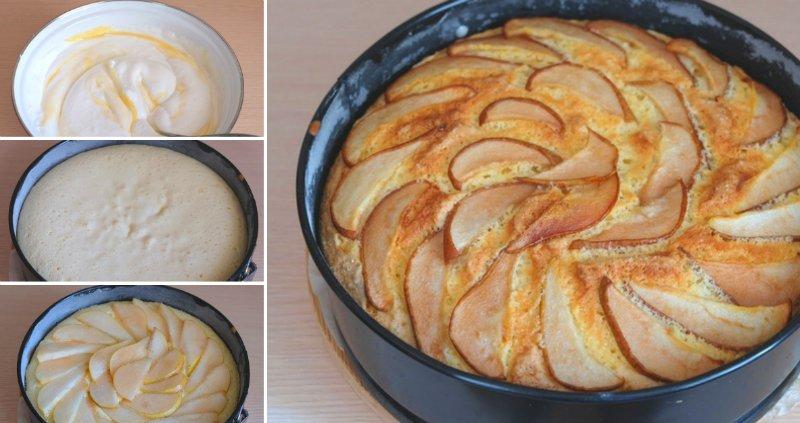 Простий пиріг з грушами