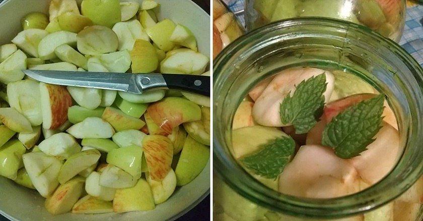 Яблучний компот на зиму подивитися рецепт