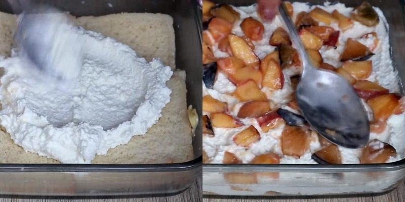 Сирний пиріг з фруктами