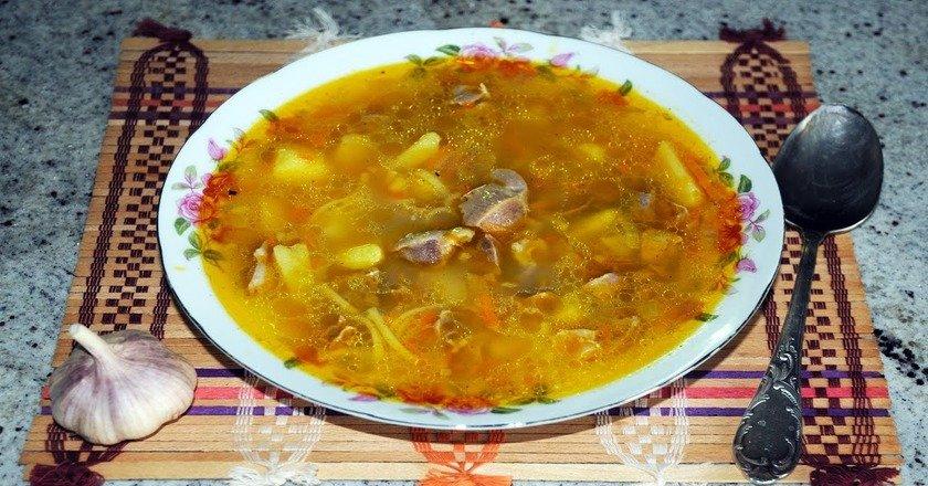 Суп з курячих шлунків подивитися рецепт