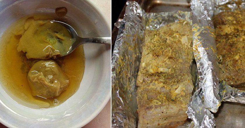 Сало з гірчицею в духовці подивитися рецепт