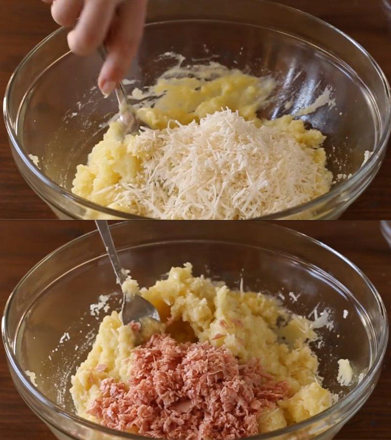 Картопляні кульки на сковороді