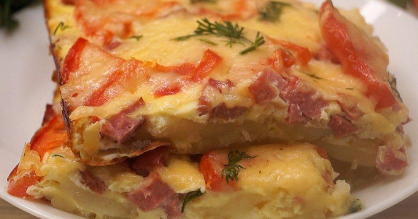 Картопляна піца на сковороді подивитися рецепт