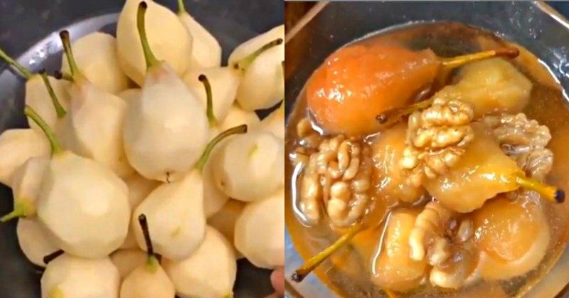 Варення з груш з горіхами
