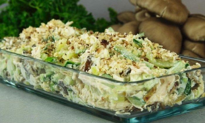 Салат з вешенками