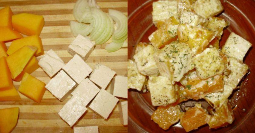 Гарбуз з тофу подивитися рецепт