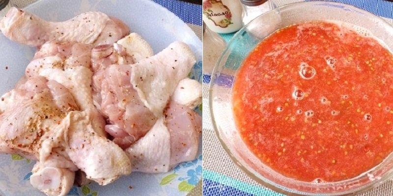 Курячі гомілки в кисло-солодкому соусі
