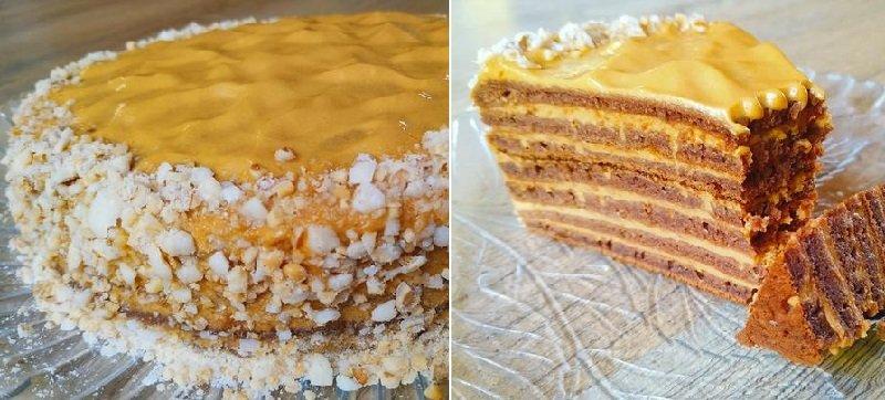 Торт на сковороді