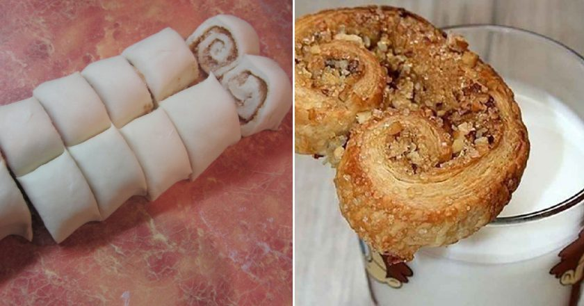 Листкове печиво «Вушка» подивитися рецепт