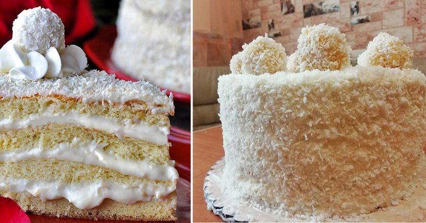 Торт «Рафаелло» подивитися рецепт