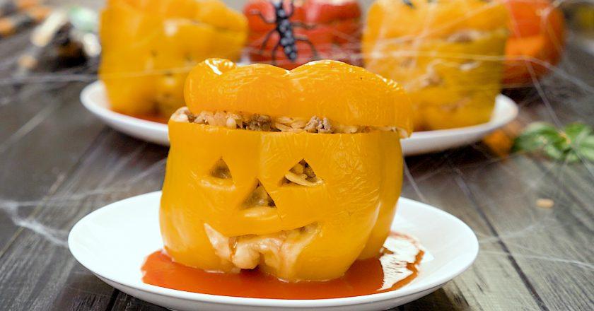 Фаршировані перці на Хелловін подивитися рецепт