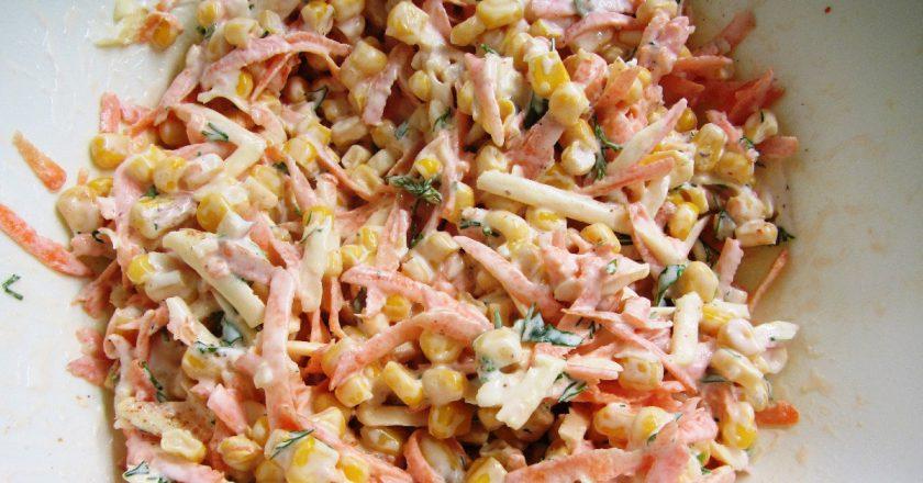 Салат з копченим сиром подивитися рецепт