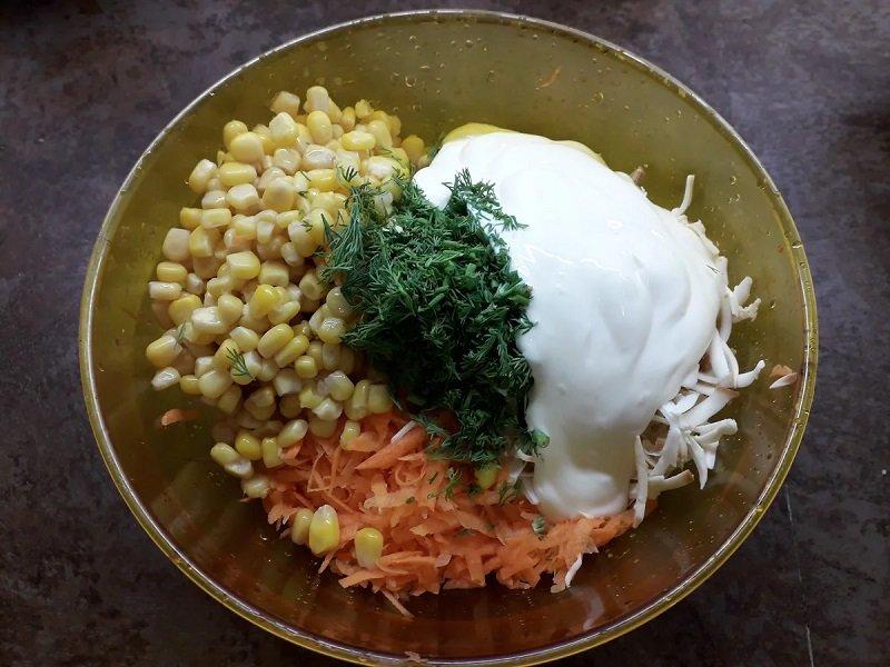 Салат з копченим сиром