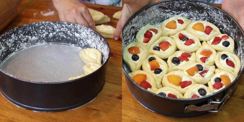 Сирний пиріг з ягодами