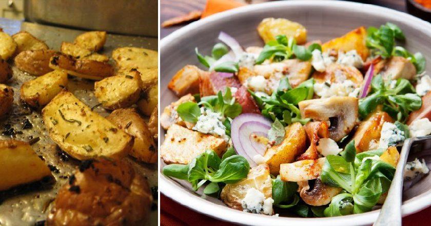 Салат з картоплею і грибами подивитися рецепт