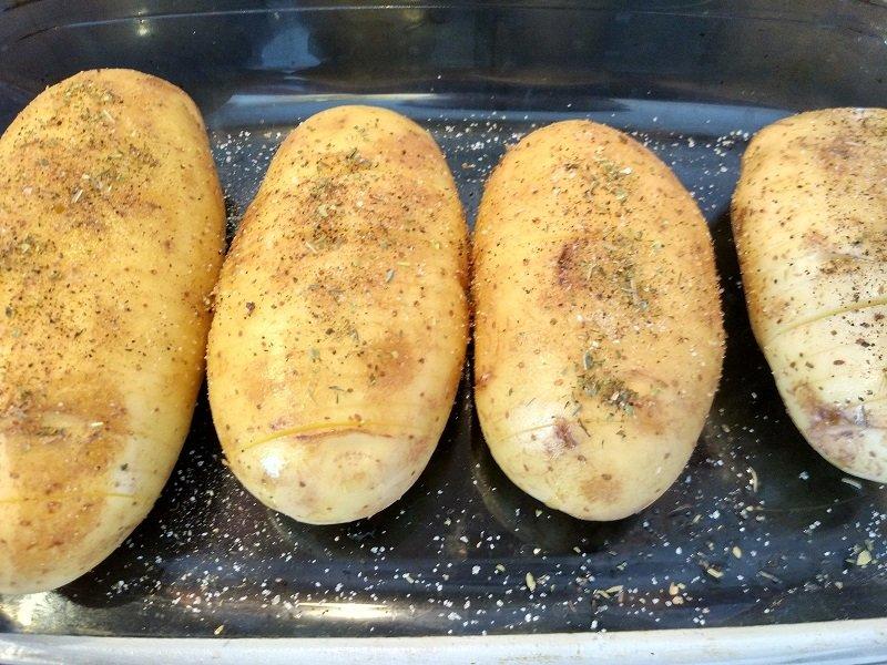 Картопля з шинкою і сиром