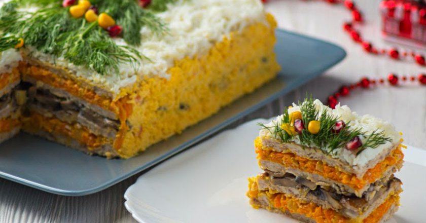Закусочний торт з м'ясом як приготувати, покрокові рецепти від «Це Смак»
