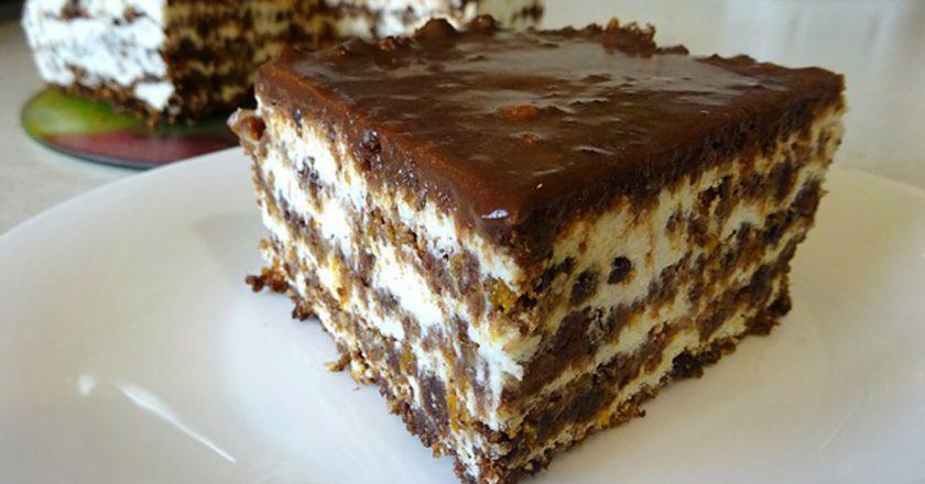 Торт без випічки з сухарів подивитися рецепт