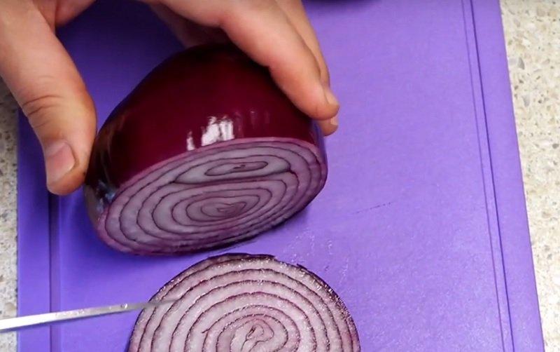 Цибульні кільця з начинкою