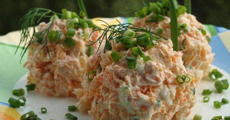 Салат зі свіжою морквою