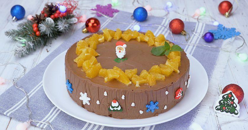 Шоколадно-апельсиновий муссовий торт подивитися рецепт