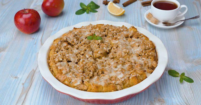 Хлібний пудинг з яблуками подивитися рецепт
