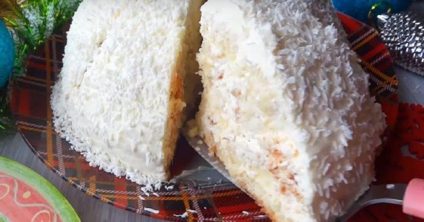 Торт «Панчо» з двома видами крему подивитися рецепт