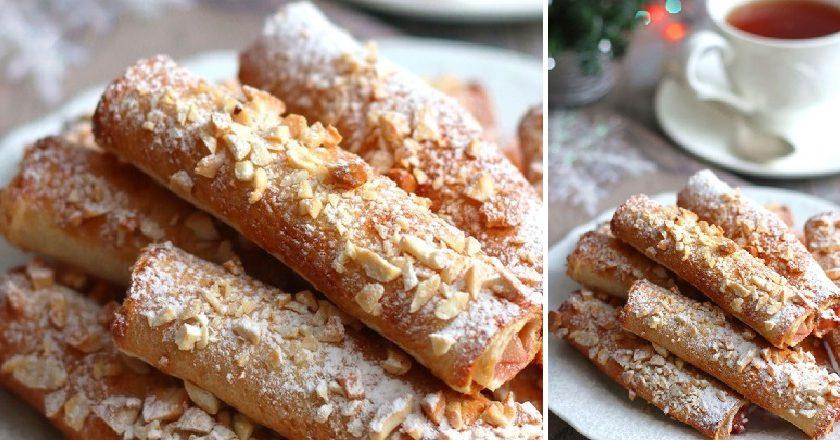 Трубочки з тостового хліба подивитися рецепт