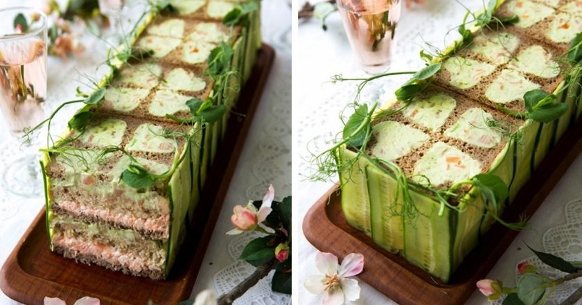 Бутербродний торт подивитися рецепт