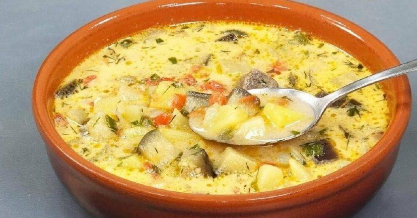 Суп з баклажанами подивитися рецепт
