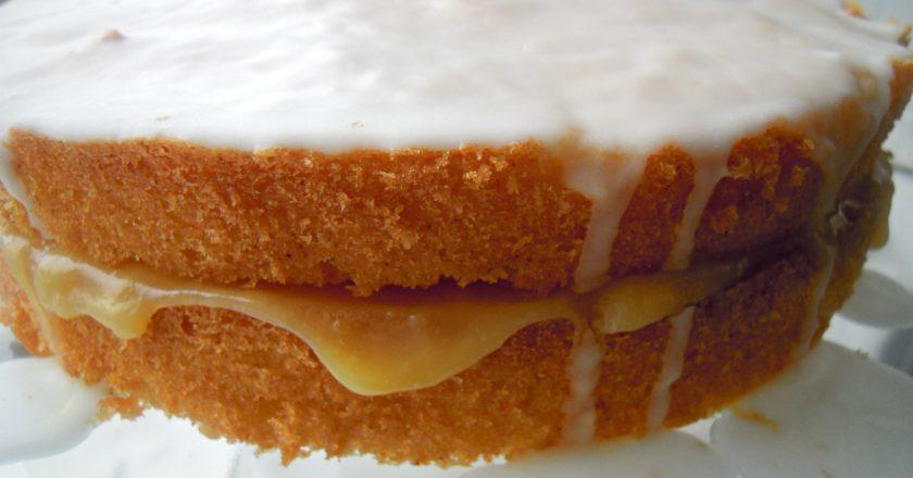 Лимонний торт з глазур'ю подивитися рецепт