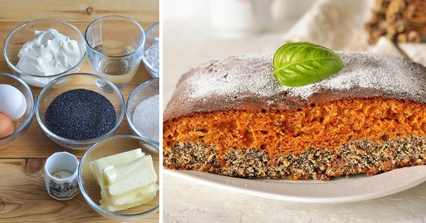Карамельний пиріг з маком подивитися рецепт