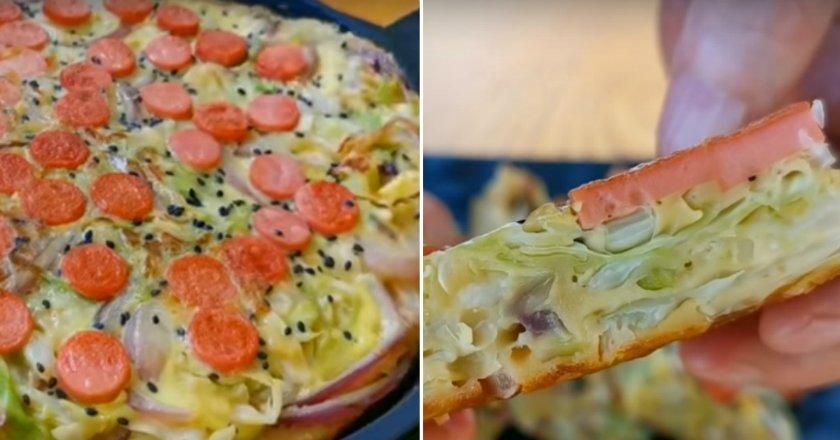 Капустяна піца подивитися рецепт