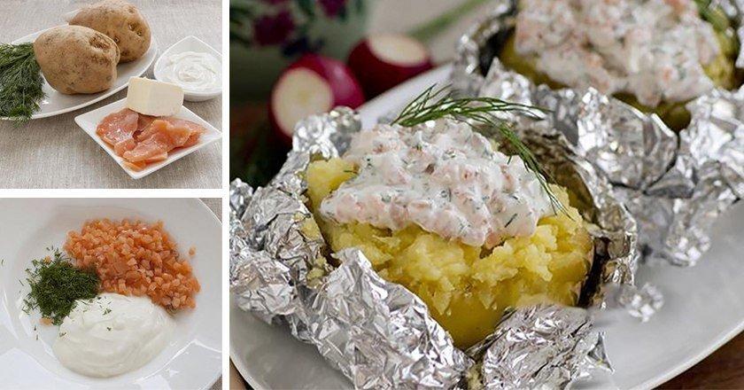 Запечена картопля з рибою подивитися рецепт