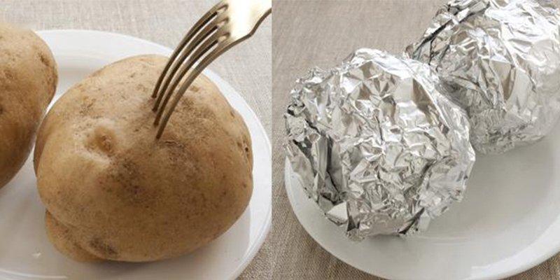 Запечена картопля з рибою