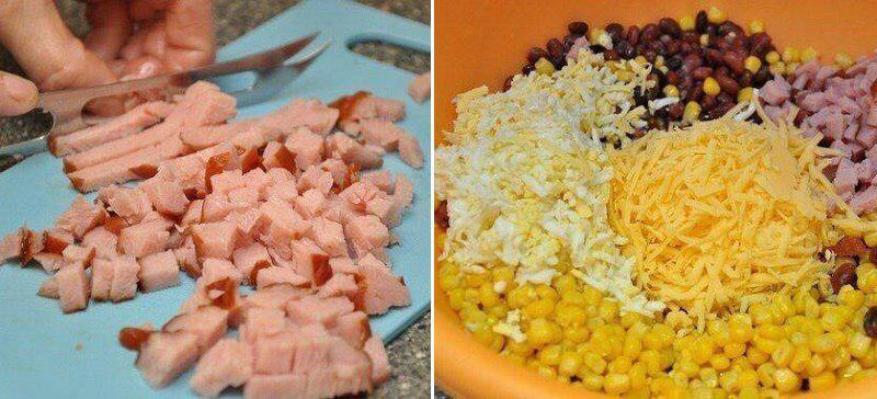 Салат з квасолею і сухарями