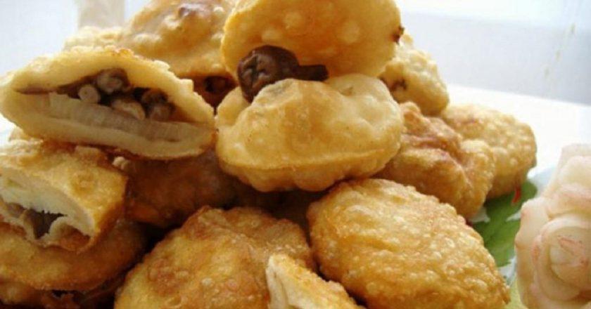 Пампушки з цибулею і грибами подивитися рецепт