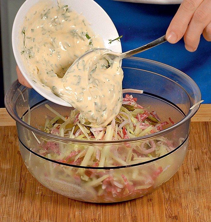 Швейцарський новорічний салат