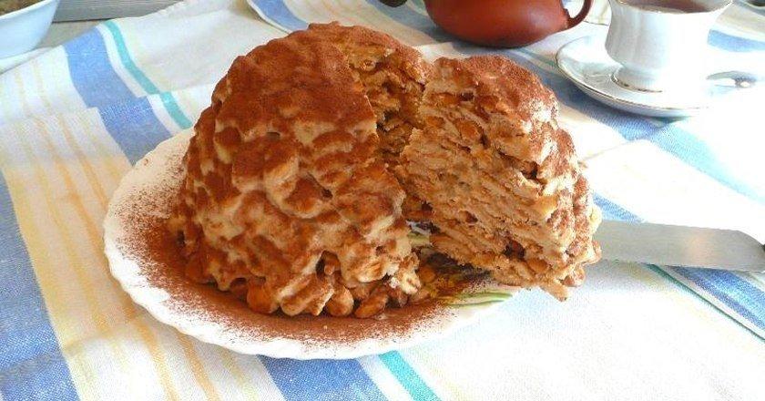 Торт з крекерів як приготувати, покрокові рецепти від «Це Смак»