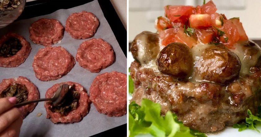 М'ясні гнізда з грибами подивитися рецепт