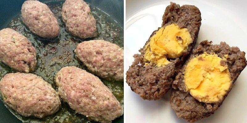 Зрази з яйцем і песто