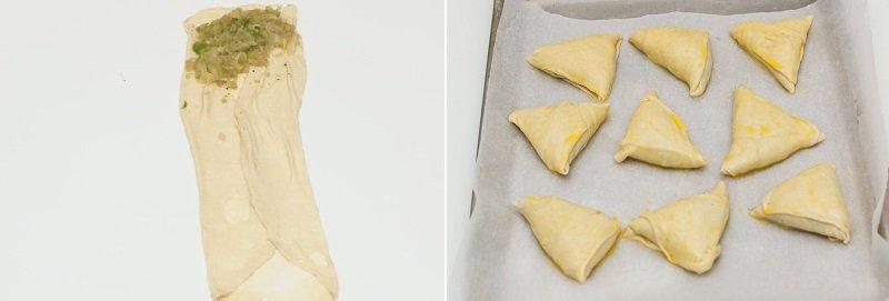 Листкові пиріжки з капустою