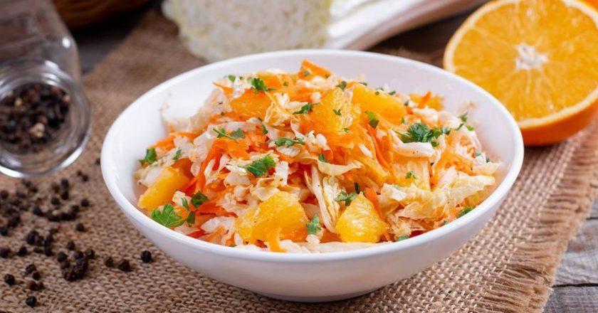 Салат з пекінською капустою і апельсинами подивитися рецепт