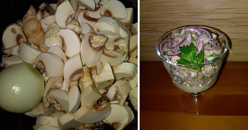 Мариновані шампіньйони з цибулею подивитися рецепт