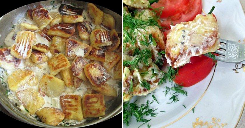 Картопляні галушки у вершковому соусі подивитися рецепт